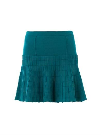 Jonathan Simkhai Fit and flare knit skirt
