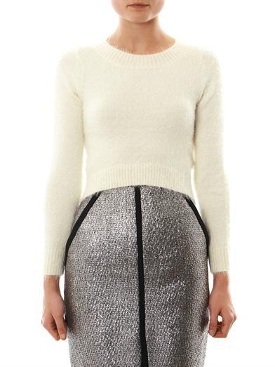 Jonathan Simkhai Cropped cashmere sweater