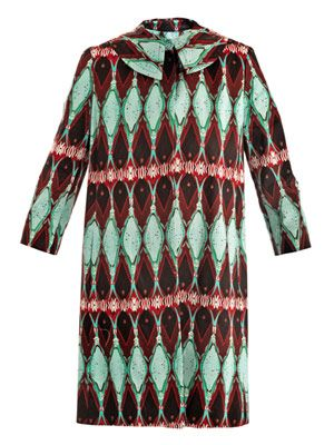 Kaleidoscope-print dress-coat