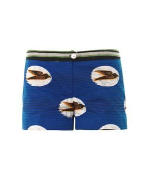 Garofano swallow-print shorts
