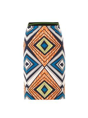 Gilda tribal-print skirt