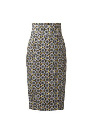 Agnese tribal-print pencil skirt