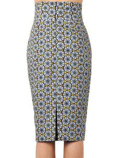 Stella Jean Agnese tribal-print pencil skirt
