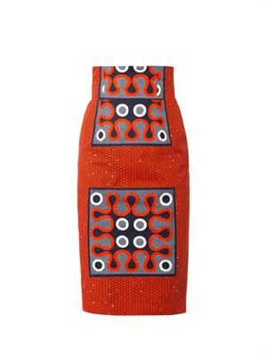 Colomba tribal-print pencil skirt