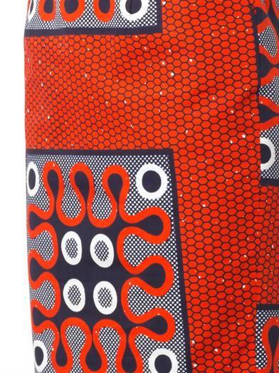 Stella Jean Colomba tribal-print pencil skirt