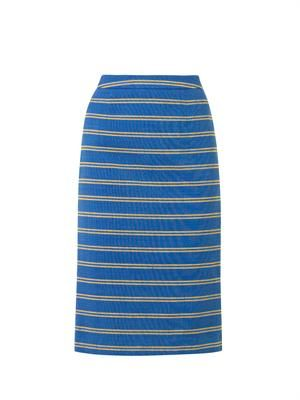 Melissa striped-cotton pencil skirt