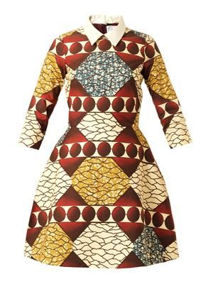Patrizia point-collar printed dress