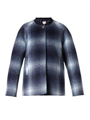 Sheela brushed checked jacket