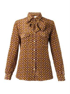 Rossella round-print silk shirt