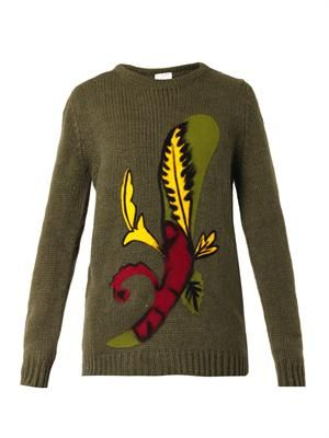 Betta card-symbol knit sweater
