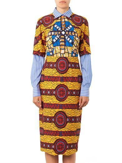 Stella Jean Barbara layered-shirt printed dress