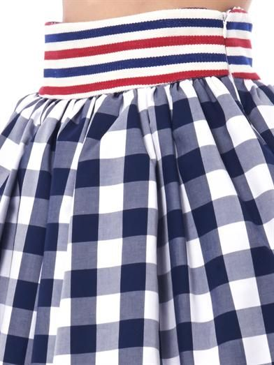 Stella Jean Primula gingham-check cotton skirt