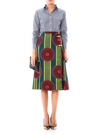 Stella Jean Fayola print skirt
