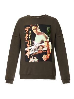 Drunia Clint Eastwood-print sweatshirt