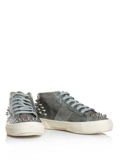 Giles X Superga 2754 Watersnake studded high-top trainers