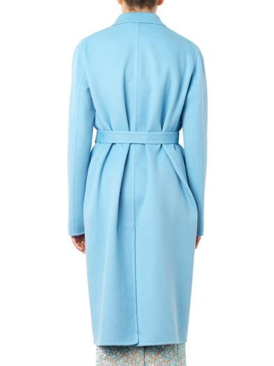 Rochas Double-faced wool and angora-blend coat