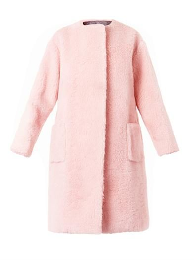 Rochas Boiled-wool collarless coat