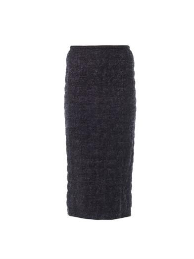 Rochas Frozen-boucle pencil skirt
