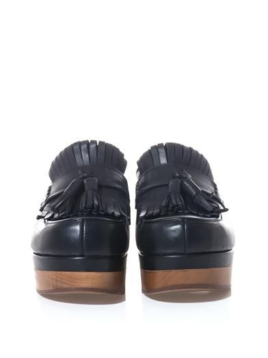 Rochas Tassel-front leather clogs