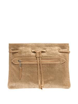 Coloniale leather clutch