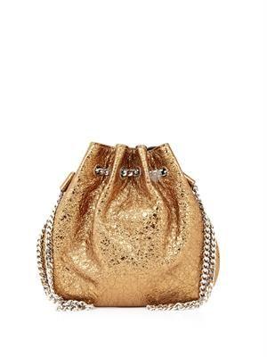 Tilda metallic leather mini pouch