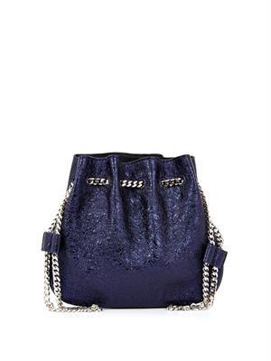 Tilda metallic leather pouch