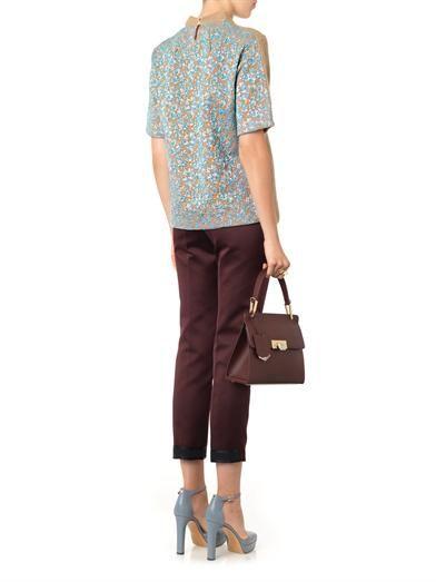 Rochas Knit and metallic-jacquard sweater