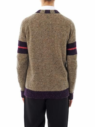 Rochas Stripe trim cardigan