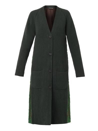 Rochas Jacquard-back cardigan