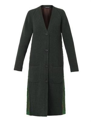 Jacquard-back cardigan