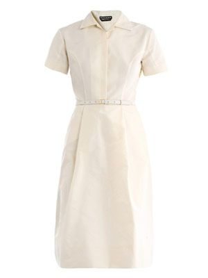 Faille shirt dress