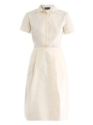 Faille shirt dress