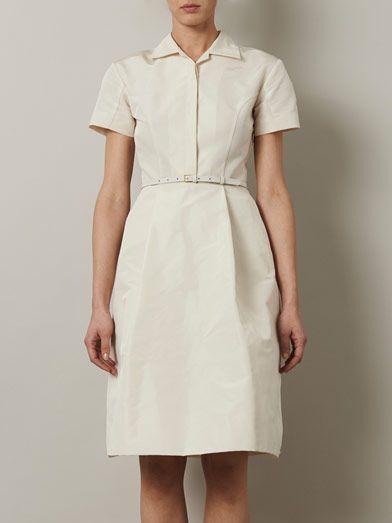 Rochas Faille shirt dress