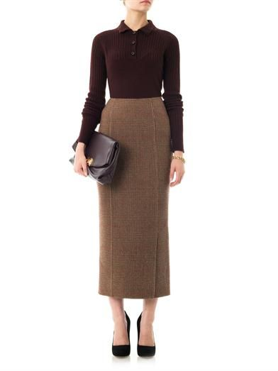 Rochas Tweed pencil skirt