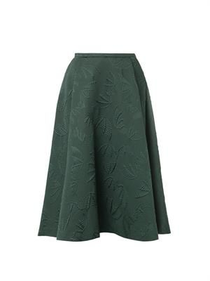 Bat-jacquard midi skirt