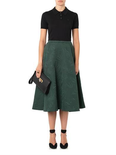Rochas Bat-jacquard midi skirt