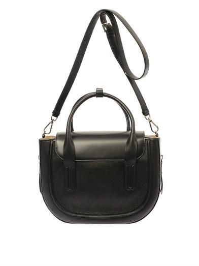 Rochas Leather and calf-hair tote