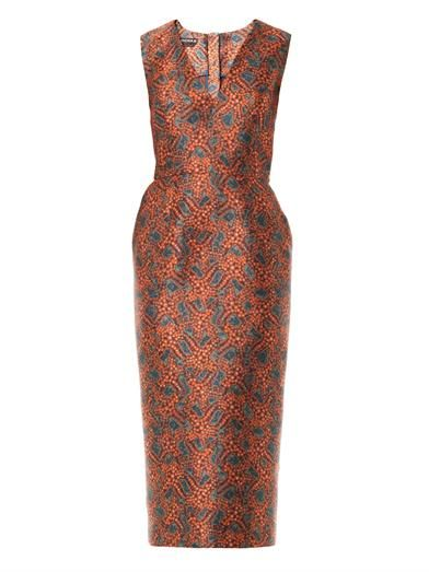 Rochas Star fish fitted dress