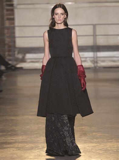 Rochas Bat-jacquard midi-length dress