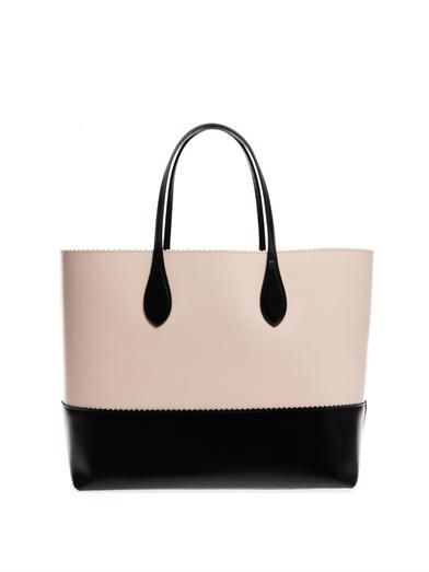 Rochas East West bi-colour tote