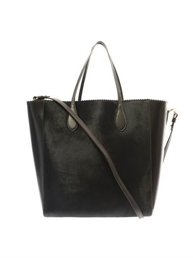 Rochas Calf-hair and leather tote