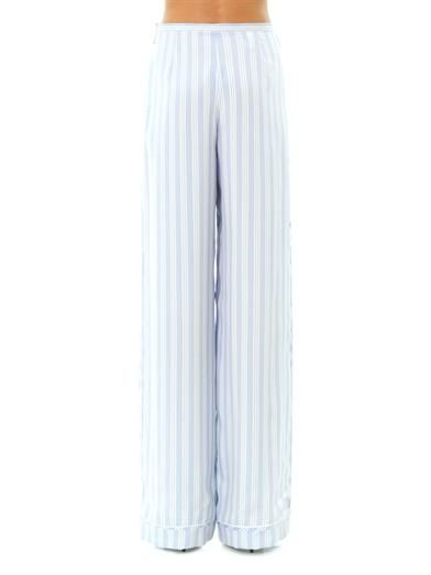 Rochas Striped silk trousers