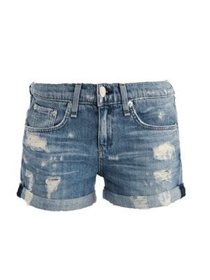 Tattered boyfriend shorts