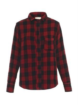 Leeds plaid-print shirt
