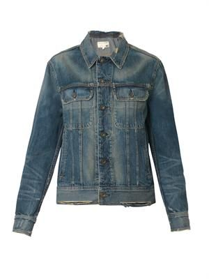 Boyfriend-fit denim jacket