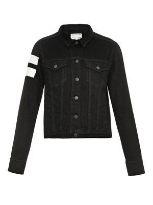 Jean shoulder-stripe denim jacket