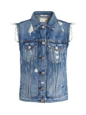 Tattered burney denim vest