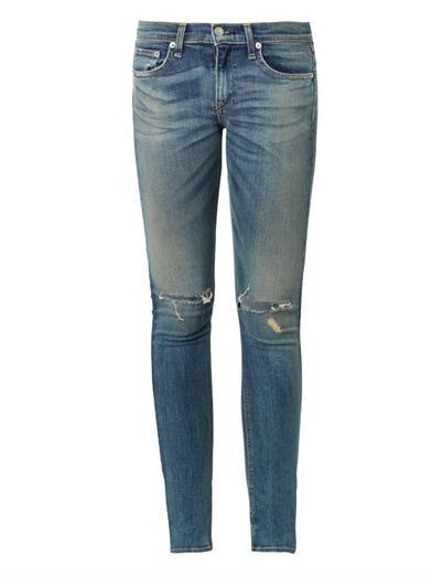 Rag & Bone The Skinny mid-rise jeans