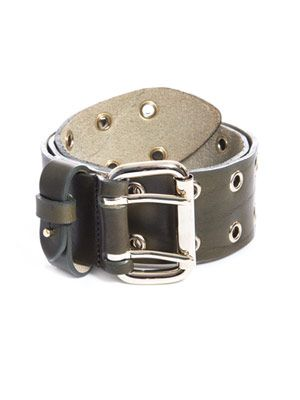 Leather military belt