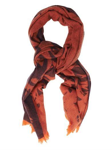 McQ Alexander McQueen Dégradé swallow-print scarf